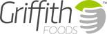 Logo de Griffith Foods, un socio de desarrollo de productos que se especializa en ingredientes alimentarios y sirve a compañías de alimentos globales y regionales de todo el mundo.