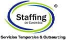 Logo de Staffing de Colombia, una compañía que selecciona trabajadores de al perfil apropiado, permitiendo la flexibilización en la contratación de mano de obra de acuerdo con las necesidades particulares de empresas y acordes a la legislación colombiana.
