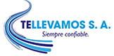 Logo de Tellevamos S.A., una empresa de transporte en Colombia especializada en transporte de mercancía refrigerado, entrega punto a punto.
